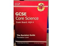 *Brand new- unused. GCSE Core and Additional Science revision guides. Foundation level.