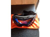 Ski trousers and goggles