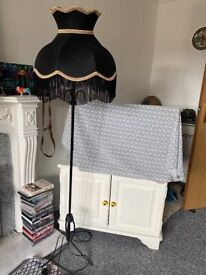 Large vintage lampshade and stand