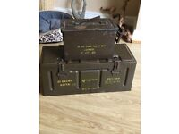 EX ARMY BOXES 1952