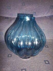 M&S Blue Glass Vase IP1