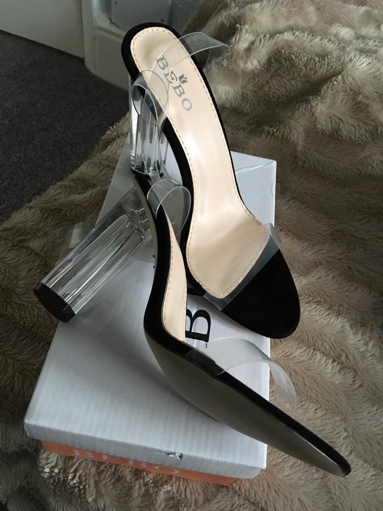 Block clear heels