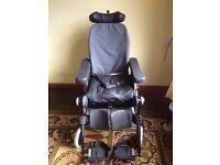INVACARE: Rea Azalea - Assist Recline Tilt Headrest Lifting Legs Wheelchair.