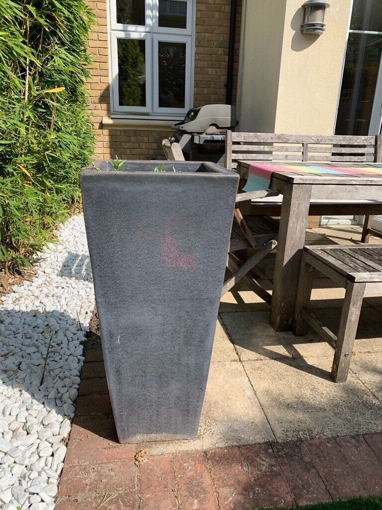 Pair of Large Glazed Ceramic Decorative Planters | in Richmond, London |  Gumtree