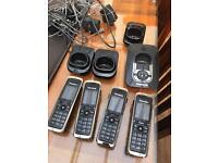 £10 Panasonic KX-TG8421E Quad (4) cordless phone system with answer machine.