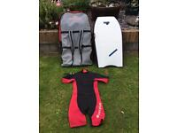 Body board, board bag and wet suit SOLD SOLD