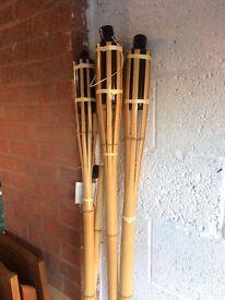 Tall Bamboo Garden Lanterns