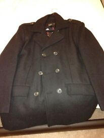APTRO Men's Wool Blend Warm Formal and Casual Pea Coat - XL