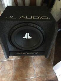 Jl audio slot ~ ported wedge & JBL Sub