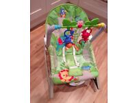 Fisher-Price Rainforest Infant To Toddler Rocker with vibrate function
