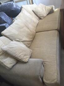Large cream sofa - very comfy and hardwearing