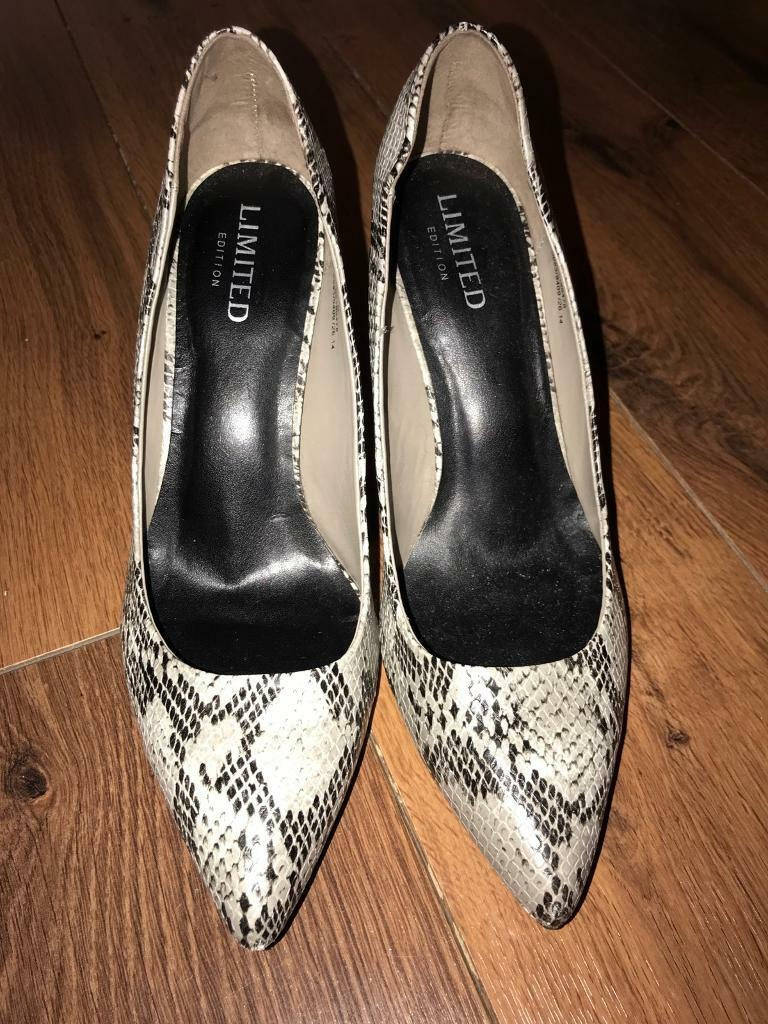 M & S limited edition snake print shoes size 6