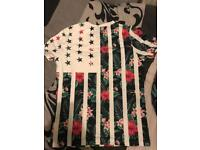 Men Floral And Star Tshirt