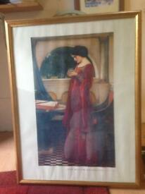 Large Picture. Gilt Framed. John Waterhouse. Crystal Ball