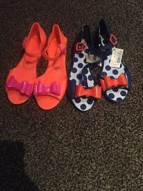 Girls next jelly shoes