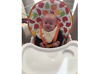 Mothercare fruit salad high chair