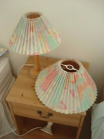 LAMP & SHADE & MATCHING CENTRE LAMPSHADE
