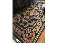 Navy blue large patterned rug!! Open to offers