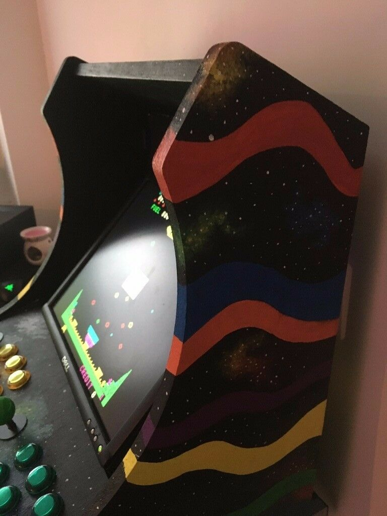 Mame table-top arcade cabinet - unfinished project. Custom one off design