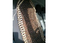 Beaded seat cover