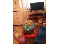 Baby Walker and Rocking Horse and Push Car