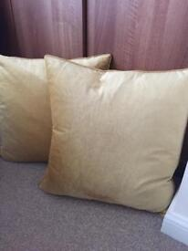 Laura Ashley Gold/Ochre Velvet Cushions