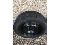 Volkswagen steel wheels x2 with Michelin winter tyres