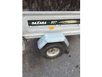 Galvanised box trailer