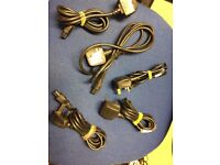 Job Lot 5 X Laptop 3 Pin Mains Clover Leaf Power Supply Cord Cable Lead UK