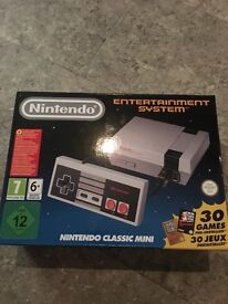 Nintendo classic mini , brand never used