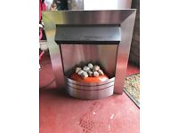 Stainless Steel Electric Fire