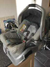 Car Seat, Car Isofix (Car Clamp) Graco, Changing Bag And Baby Bouncer.
