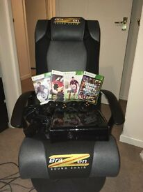 For Sale - Brazen Gaming Sound Chair, plus Xbox 360 and 5 games
