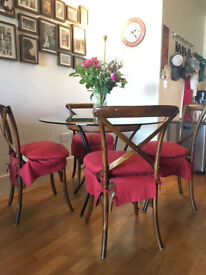 John Lewis Dining table and assorted OKA chairs