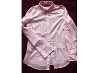 Asos pink and white shirt