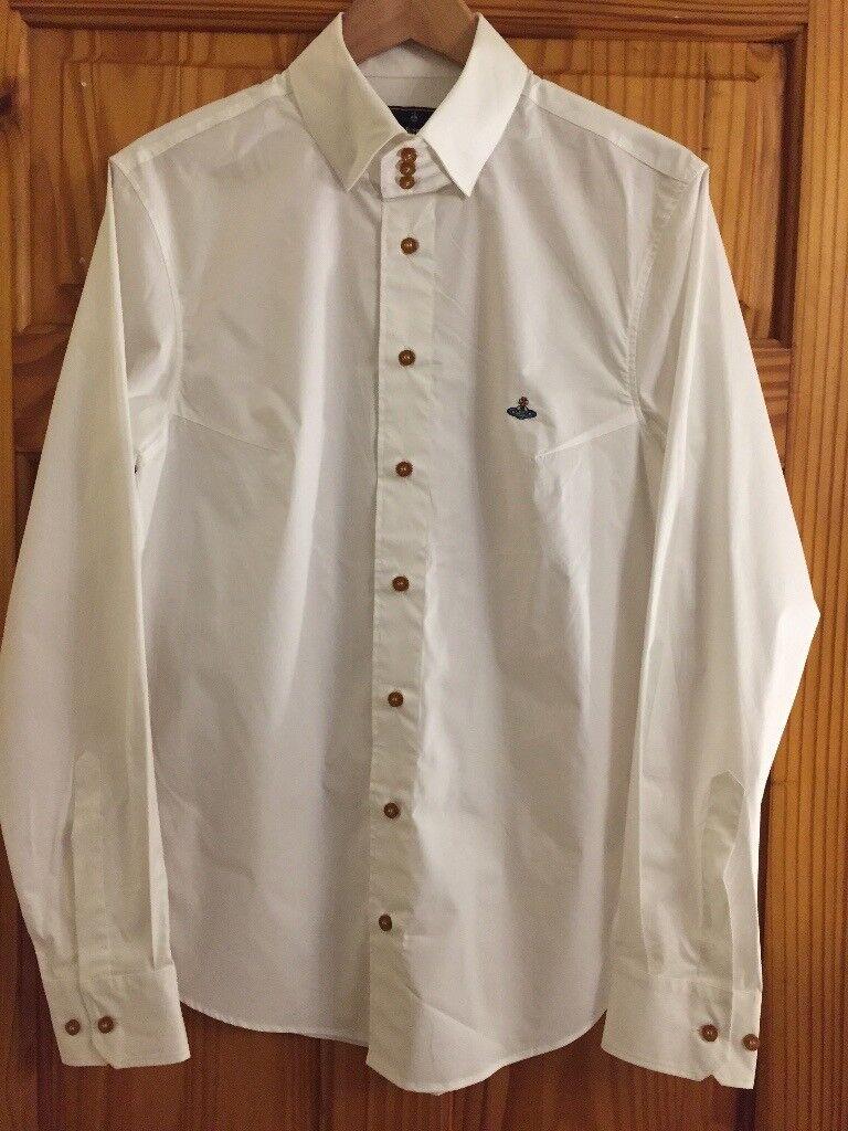"Vivienne Westwood White 3 Button Krall Shirt L(40"")"