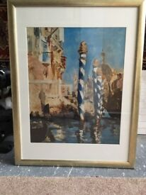Large Gold Picture Frame 870mm x 670mm