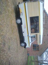 Bedford cf 250 ,petrol ,l.p.g.1984,2000 cc campervan. Clean and tify8