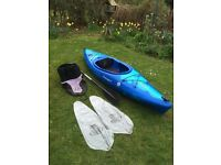 Dagger Fiesta Kayak, includes Paddle, Spraydeck & Buoyancy Bags