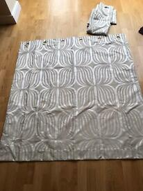 Marks and Spencer's cream/silver curtains