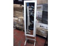 FREE STANDING TILT FULL LENGTH WHITE MIRROR WITH INSIDE STORAGE ONLY £40!!