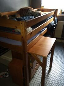 Kids cabin bed with desk and matching furniture