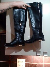 Eco leather boots great condition size 6