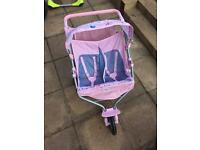 Almost New dolls twin pushchair