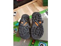 Leather timberland sandals infant size 5