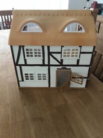 Sylvanian Families Highfields Farm with original box