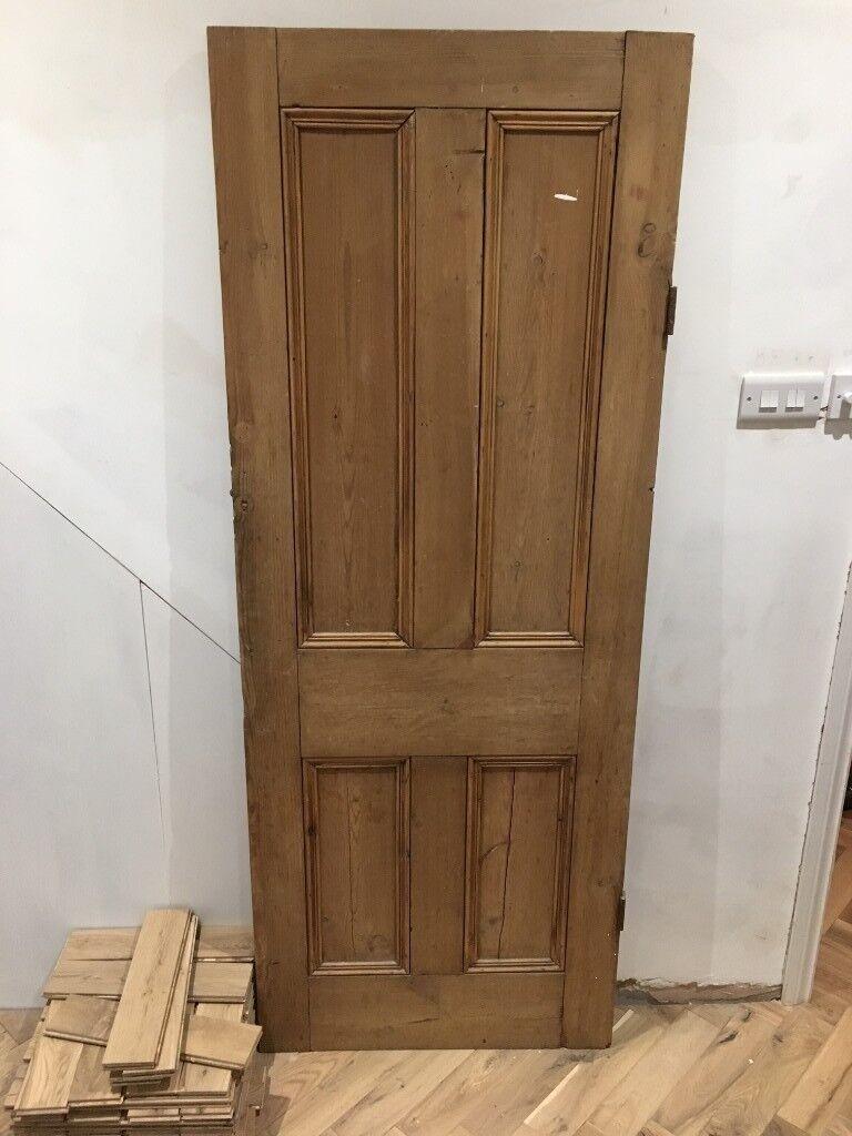 Internal Solid Wood Door From Victorian Terrace In