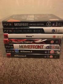 7 PlayStation three games