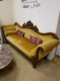 19th century double ended settee