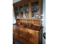 Dining Room Furniture table chairs and display cabinet.